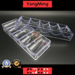 5 Fila 100HP 40mm/ Poker Chip Set Bandeja Casino Chips de acrílico transparente caso com tampa Ym-CT08