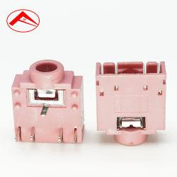 Montagem de PCB do pino 5 do soquete fêmea Tomada de áudio estéreo de 5 pino para tomada de 3,5 mm