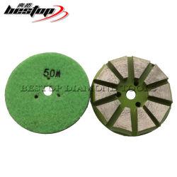 """3"""" el respaldo de Velcro piso de concreto Disco de tallado de diamantes"""