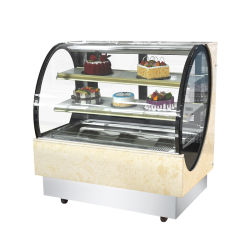 Ce prix d'usine approuvé quatre pieds de gâteau d'affichage vertical Chiller boulangerie réfrigérés Cabinet verre carrées vitrine de présentation