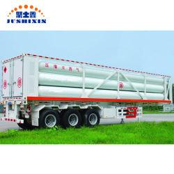 En acier au carbone 3000kg 40FT/4000kg Tube GNC semi-remorque avec 6/8 cylindres pour la Tanzanie