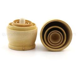 OEM Home Dekoration Weißer Embryo Holz Spielzeug Handwerk 5 Schichten Matryoschka Puppe