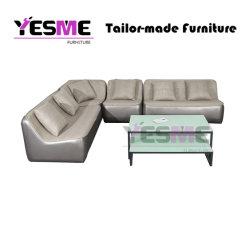 Jardin extérieur moderne Resort salle de séjour tissu cuir intérieur coton à séchage rapide meubles canapé de loisirs