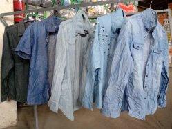 Katoenen van de Kokers van het Jasje van het Overhemd van de Jeans van de Rang van de AMERIKAANSE CLUB VAN AUTOMOBILISTEN Lange Toevallige Gebruikte Kleding