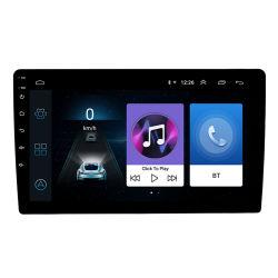 2자동 루라디오로 10인치 Android 1001 LCD 터치 스크린 차량용 무전기 플레이어 자동 오디오 Bluetooth 다국어 GPS VLC APK 지원 DVD 플레이어