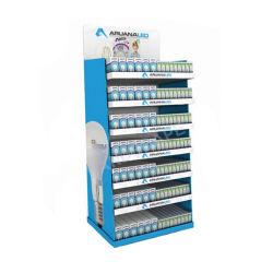 Supermercado lâmpada portátil suporte de monitor de papelão / Monitor de papel do piso para exibição de piso de papelão/lâmpada de luz de LED