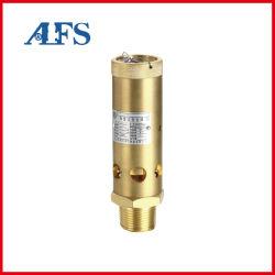 Válvula reductora de presión de resorte de válvula de control de seguridad Industrial plena conexión roscada de latón de la válvula de descarga de seguridad Válvula de seguridad para el compresor de aire (A28X-16T)