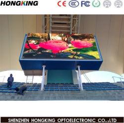 Impermeable al aire libre de pared de vídeo P10 LED para arreglar la instalación