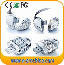 Producto de fábrica de piedras preciosas en forma de corazón disco flash USB USB Linux (ES200)