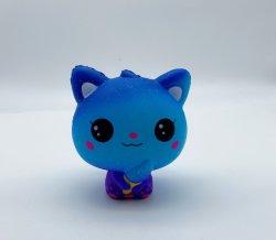 Blue Cat Hot Dog Toy Squishy Galaxy de vente des cadeaux de Noël pour chien et chat