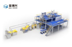 O modelo Multi SMS Nonwoven Fabric fazendo a linha de produção da Máquina