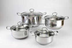 Venda por grosso Stock Pot definido em aço inoxidável Hotpots Caçarola Panelas
