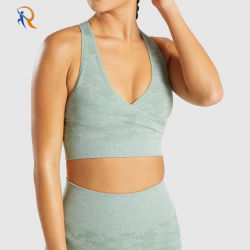 La impresión personalizada OEM Algodón Premium juego de la mujer ropa de Yoga Yoga