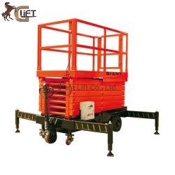 Die völlig elektrische selbstangetriebene hydraulische Arbeitsbühne-Luftaufzug-Plattform Scissor Aufzug-Griff-Steuerung (SJX)