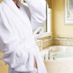 100% algodão Terry Hotel Veludo roupão de banho (DPH7070)