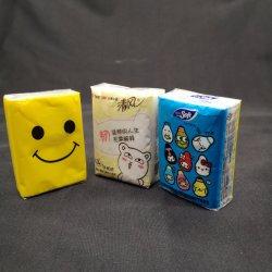 Extra suave tejido de bolsillo personalizado / Monedero tejido de papel / pañuelo tejido