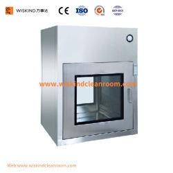 청정실 UV 빛 및 자동적인 문 시스템을%s 가진 고품질 스테인리스 통행 상자의 제조자