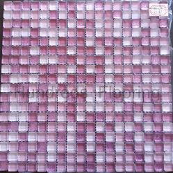 Violet cristal mosaïque tuile, mosaïque, mosaïque de verre (MGH238)