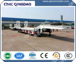CIMC 중장비 캐리어 삼중 차축 로베드 세미 트레일러 60톤