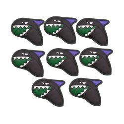 Conjuntos de coberturas para ferros Shark Golf Club em pele PU de boa qualidade