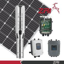 5pulgadas impelente de acero inoxidable bomba sumergible centrífugo de Energía Solar, sistemas de bombeo de agua solar, Motor dc sin escobillas, con MPPT controlador