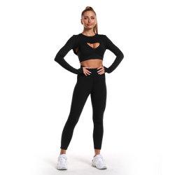 2021 vêtements de fitness Sport ensemble de yoga Vente en gros Nouveau gilet imprimé Leggings extensibles ensemble de yoga