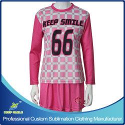 Sublimation fait sur mesure pour les filles de vêtements de crosse