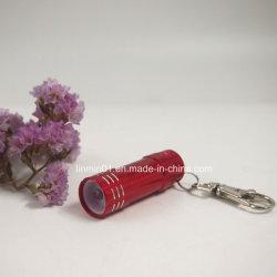 Aluminio personalizado 3LED linterna con la impresión de regalo de promoción
