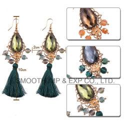 Commerce de gros Fashion Designs Rhinestone Tassel Earring femmes bijoux de perles