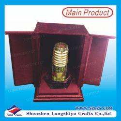 Contenitore basso di velluto di Acrlic dei UAE del trofeo su ordinazione del metallo