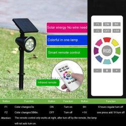 Wasserdichter garten-Lampen-Rasen RGB-weißer LED Solarstrahlt Wand-helle Sicherheit mit Fernsteuerungs an