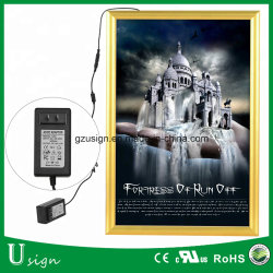 Contenitore chiaro su ordine di manifesto di film 27X40 per la casella chiara sottile del LED