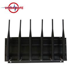 強力な6アンテナWiFi GPSのシグナルの妨害機3G 4G GPS WiFi Lojackの携帯電話のシグナルのアイソレーター
