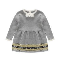 Vêtements de bébé pull robe robe de princesse pullover en tricot Pulls robes de vêtements pour enfants