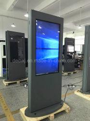 Dedi 55pouces grand grand écran LCD de la publicité extérieure 4K kiosque de signalisation numérique TV