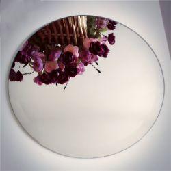 Miroir rond en aluminium de 3 mm Bord Poished de verre