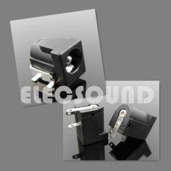 DC jack 2,0mm électrique en plastique noir/RoHS 2,1 mm