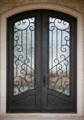 L'extérieur personnalisée classique porte d'entrée de fer métallique Grill 70X96