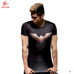 Healong Fancy LED baratos Dry Fit camiseta de algodón personalizadas