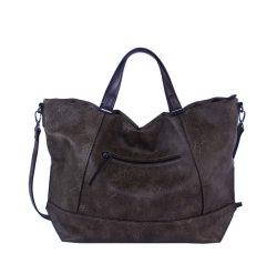 Senhora Two-Tone moda PU Tote sacos, bolsas de Alavanca Dupla