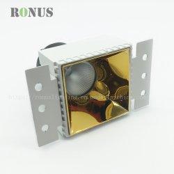 高レベルLEDの穂軸MR16の縁なしの正方形の点ライトランプの金天井のスポットライト屋内つくDownlight