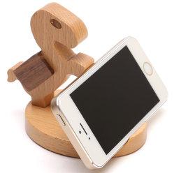 Nouveau support de téléphone en bois de forme de bande dessinée