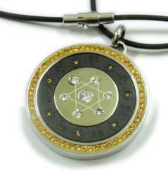 스테인레스강 다이아몬드 바이오 에너지 Quantum 펜던트