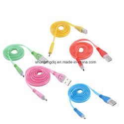 Fil de remplissage de cordon d'adaptateur de câble de synchro de caractéristiques de l'éclairage LED 8pin 1m USB pour l'adaptateur micro de câble usb de tablette androïde de téléphone de Huawei Meizu