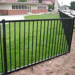 Cercas de aluminio comercial para los Estados Unidos el mercado/Picket Fence cerco/Flat/Loop Top Fence