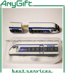 Promoção Creative Gift Holiday Train Shaped PVC USB Flash com Unidade USB personalizável com chip de uma classe