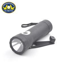0,5 W 1 LED Manivela Dinamo linterna recargable USB