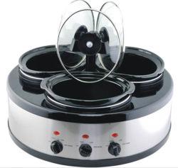 3-in-1 Oval Triple Slow Cooker Warmer/Food Warmer/Buffet Server