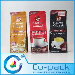 Saco Gusseted Multi-Layer Fundo laminado para embalagem de café