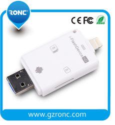 Lettore di schede di deviazione standard di TF di memoria di OTG per il telefono mobile di Andriod/iPhone